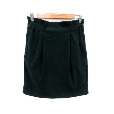【中古】ヘザー Heather 台形スカート ミニ フェイクスエード M 緑 グリーン /MS レディース 【ベクトル 古着】