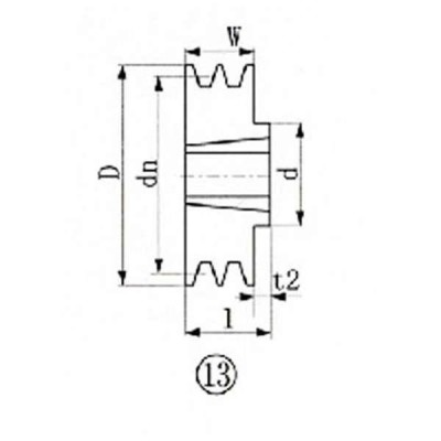 エバオン ※EVN ブッシングプーリー SPB 185mm 溝数2 SPB1852   1131 3806243