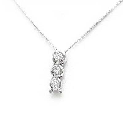 【緑屋質屋】田崎(タサキ・TASAKI) ダイヤモンド ネックレス 0.26ct #PID-15944-18K WG【中古】