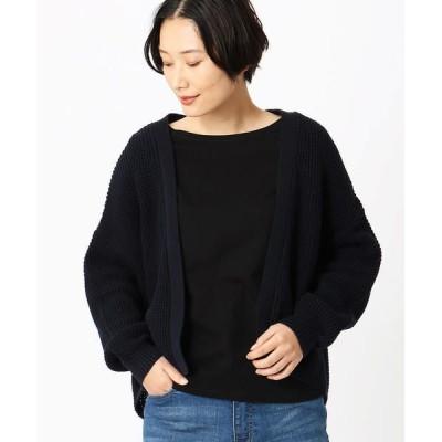 COMME CA ISM/コムサイズム 【セットアイテム】 カーディガン & Tシャツ ネイビー L