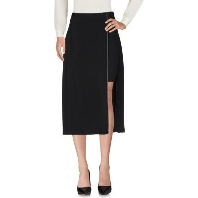 ピアヌラストゥーディ�� PIANURASTUDIO 7分丈スカート ブラック 42 レーヨン 95% / ポリウレタン 5% 7分丈スカート