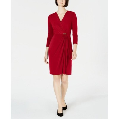 チャータークラブ Charter Club レディース ワンピース ラップドレス ワンピース・ドレス Hardware Faux-Wrap Dress Ravishing Red