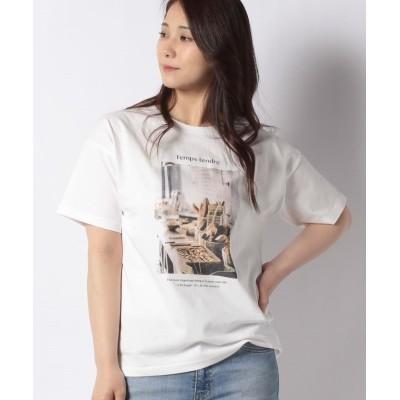 (Samansa Mos2/サマンサ モスモス)【SM2】パン転写プリントTシャツ/レディース オフ