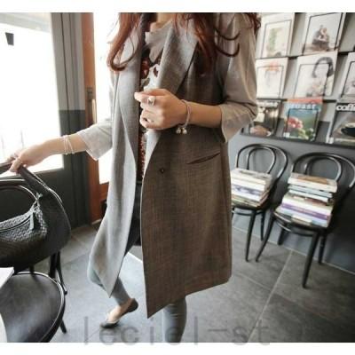 ベストOL通勤仕事着プルオーバー女性コートジャケットレディース欧米風着痩せゆったりカジュアルカーディガンベストスーツ