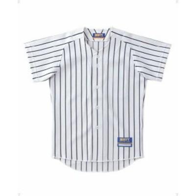 【メール便対応】ゼット ユニフォーム ストライプメッシュシャツ ジュニア 野球 BU521J-1129