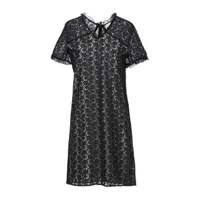 INTROPIA ミニワンピース&ドレス ブラック 38 コットン 77% / ナイロン 23% ミニワンピース&ドレス