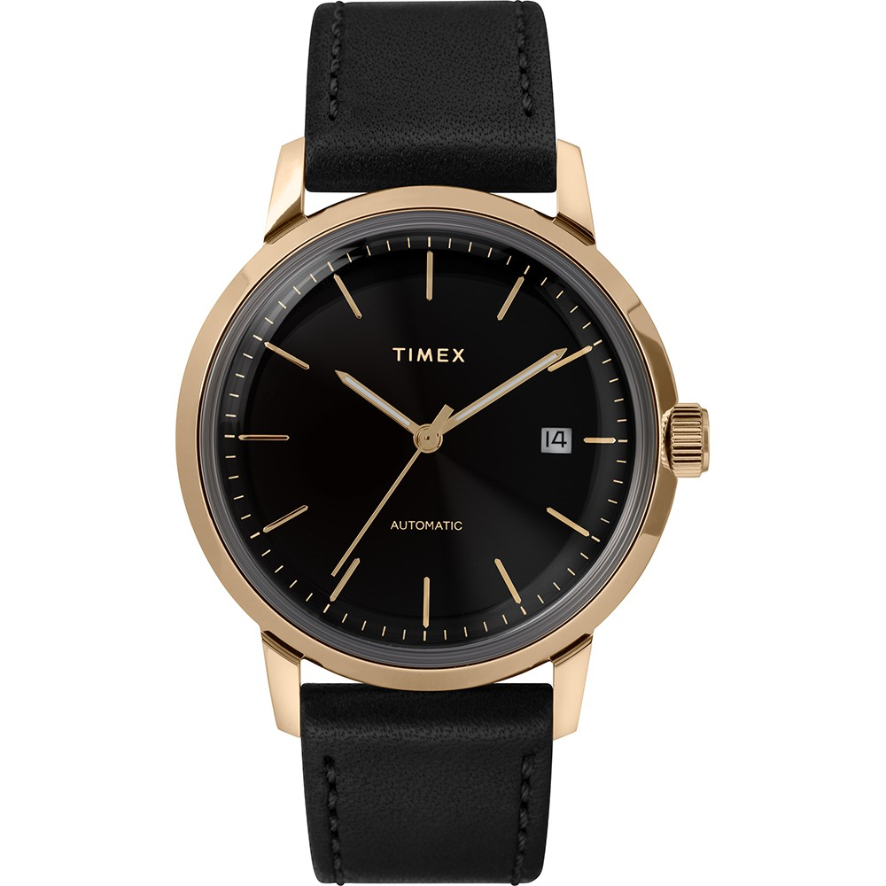 【TIMEX】 天美時 x Marlin 復刻系列 經典機械錶 (黑 TXTW2T22800)