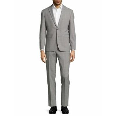 ヴィンス カミュート Men Clothing Extreme Slim-Fit Plaid Wool Suit