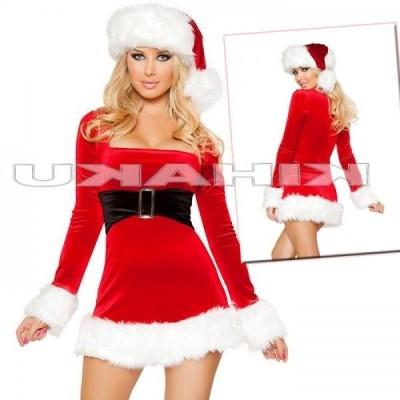 サンタクロース 衣装/長袖 ドレス サンタ衣装Yapy9485