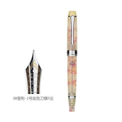 PENBBS 456 Vacuum Filling Fountain Pen Resin Transparent Body Iridium Fine