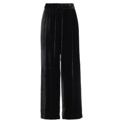 セミクチュール SEMICOUTURE パンツ ブラック 40 レーヨン 80% / シルク 20% パンツ