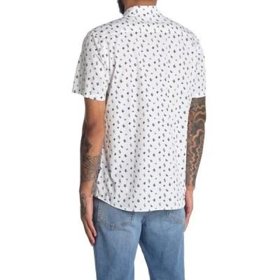 シビル ソサエティ メンズ シャツ トップス Gringo Printed Poplin Button Up Shirt WHITE