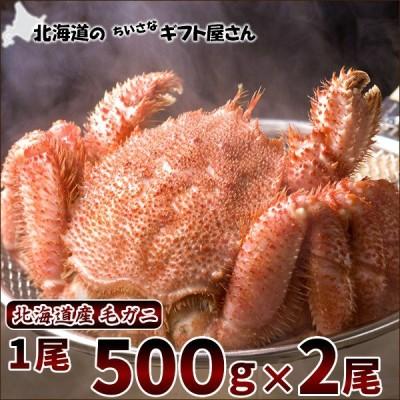 北海道産 毛ガニ 500g×2尾 (ボイル冷凍) 北海道 毛がに 毛蟹 ボイル お歳暮 年末年始 ギフト 贈り物 プレゼント 人気 北海道 グルメ お取り寄せ