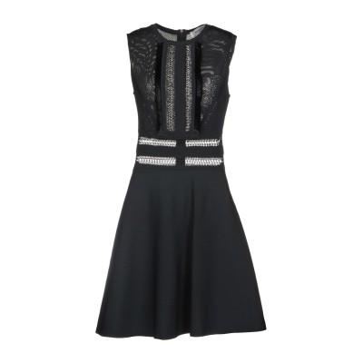 ヴァレンティノ VALENTINO ミニワンピース&ドレス ブラック L レーヨン 83% / ポリエステル 17% ミニワンピース&ドレス