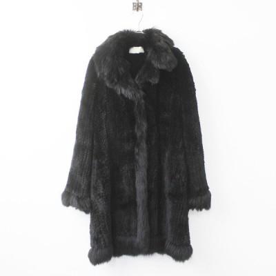 最高級 VALENTINO ヴァレンティノ ラビット フォックス ファーコート 海外並行品///ブラック アウター 羽織り 2400011199447