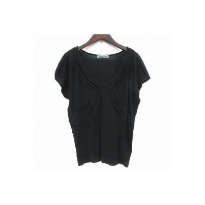 【中古】ツモリチサト TSUMORI CHISATO Tシャツ カットソー フレンチスリーブ Uネック 2 黒 ブラック /CT レディース 【ベクトル 古着】