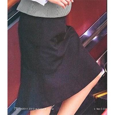 S-15610 マーメイドスカート(53cm丈) ブラック 全1色 (セロリー SELERY クレッセ 事務服 制服)