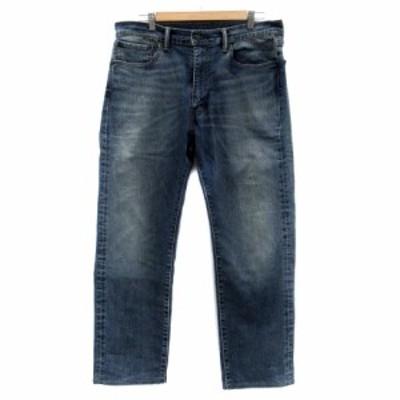 【中古】リーバイス Levi's 505 パンツ デニム ジーンズ ストレート アンクル丈 36 水色 ライトブルー /HO32 メンズ