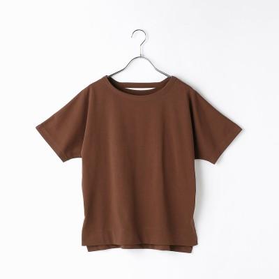 コムサイズム COMME CA ISM フレンチスリーブ Tシャツ (ブラウン)