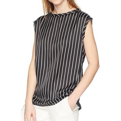 レディース 衣類 トップス Women's Blouse White Large Satin Striped L ブラウス&シャツ