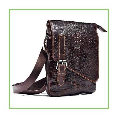 Mens Genuine Leather Small Messenger Shoulder Satchel Phone Pouch Belt Fanny Waist Bag Pack【並行輸入】【新品】