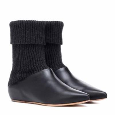 ガブリエラ ハースト Gabriela Hearst レディース ブーツ ショートブーツ シューズ・靴 Rocia knit and leather ankle boots Black
