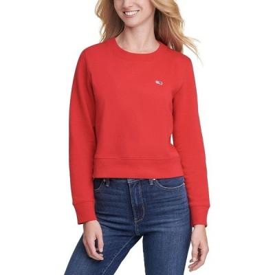トミーヒルフィガー カットソー トップス レディース Flag Logo Graphic Sweatshirt Medium Red
