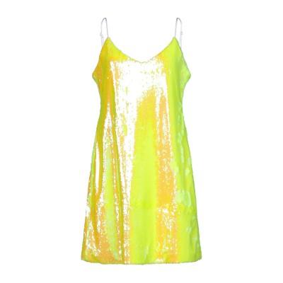 GRETHA Milano ミニワンピース&ドレス イエロー 46 ポリエステル 100% / ポリウレタン ミニワンピース&ドレス