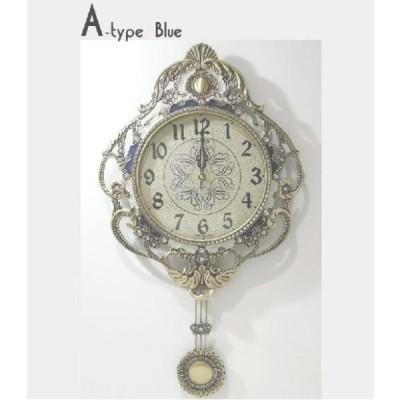掛け時計 真鍮飾りオーロラ 電波時計 振り子時計 壁掛け時計 おしゃれ 掛時計 北欧 時計 インテリア