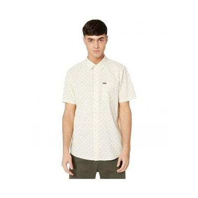 Volcom ヴォルコム メンズ 男性用 ファッション ボタンシャツ Mark Mix Short Sleeve - White Flash