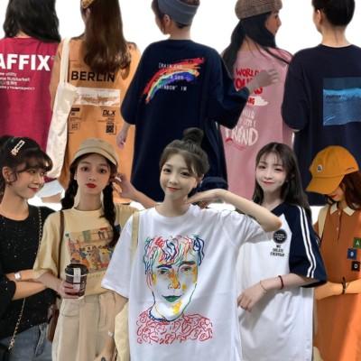 【送料無料 2020夏季新品 】3+1特偭 !超高品質 可愛 Tシャツ大集合韓国ファッションTシャツ新型韓版ブームの生徒がゆったりとしたカッコいい街で半袖の上着