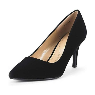 DREAM PAIRS Women's KUCCI Black Suede Classic Fashion Pointed Toe High Heel Dress Pumps Shoes Size 8 M US