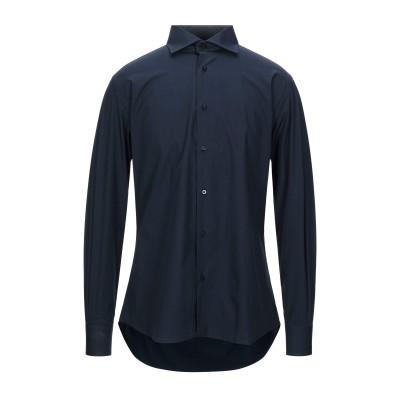 PAOLO D'AMATO シャツ ダークブルー 40 コットン 100% シャツ