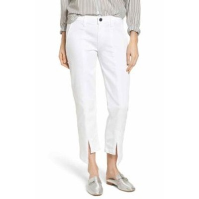 Parker パーカー ファッション パンツ PARKER SMITH NEW Bright White Womens Size 25 Split Hem Cropped Pants