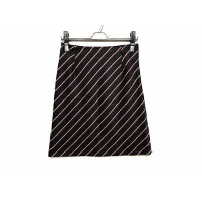 トゥモローランド TOMORROWLAND スカート サイズ36 S レディース ダークネイビー×ボルドー×白【還元祭対象】【中古】