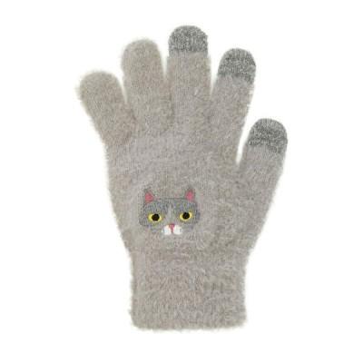 スマホ手袋 ハチワレネコ 17318631032    フリーサイズ