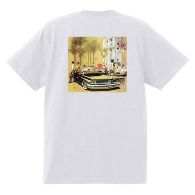 アドバタイジング ポンティアック420 白 Tシャツ 黒地へ変更可能 1962 グランプリ テンペスト ボンネビル カタリナ アメ車