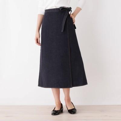 OPAQUE.CLIP(オペーク ドット クリップ)/デニムロングラップスカート