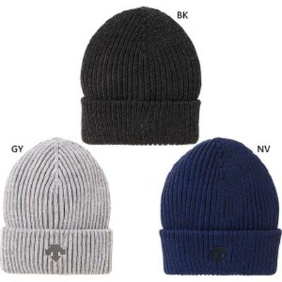 【送料無料】 デサント DESCENTE メンズ レディース ジュニア ワンポイントニットキャップ 帽子 ニット帽 DMAQJC62
