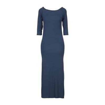 POUR MOI 7分丈ワンピース・ドレス ダークブルー one size レーヨン 94% / ポリウレタン 6% 7分丈ワンピース・ドレス