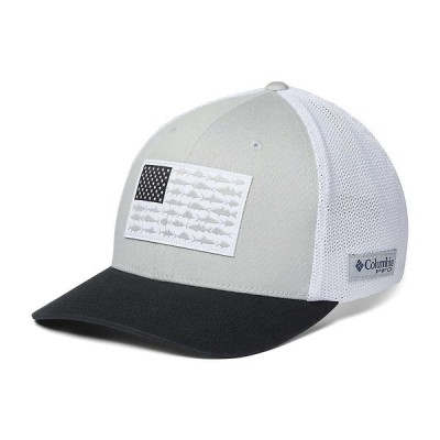 コロンビア Columbia ユニセックス キャップ 帽子 PFG Mesh Fish Flag Ball Cap Cool Grey/White/Black/Us Flag