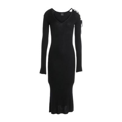 ピンコ PINKO 7分丈ワンピース・ドレス ブラック L 87% レーヨン 13% ポリエステル 7分丈ワンピース・ドレス