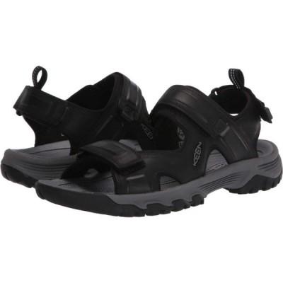 キーン KEEN メンズ サンダル オープントゥ シューズ・靴 Targhee III Open Toe Sandal Black/Grey