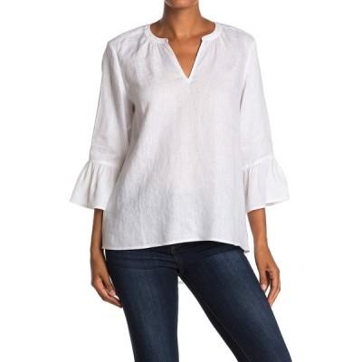 トッミーバハマ レディース シャツ トップス Tove Silk & Linen 3/4 Bell Sleeve Top WHITE