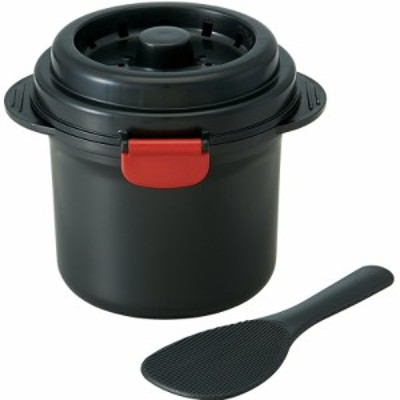 スケーター 電子レンジ炊飯器 ご飯メーカー 1合 スノコ付 モダントーンブラック UDG1