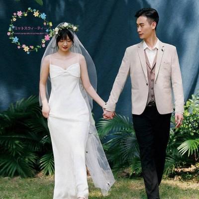 マーメイドドレス 二次会 ビーチウェディングドレス 安い 白 パーティー 結婚式 ブライダル 演奏会 ロングドレス披露宴 花嫁 挙式 お呼ばれ 大きいサイズ