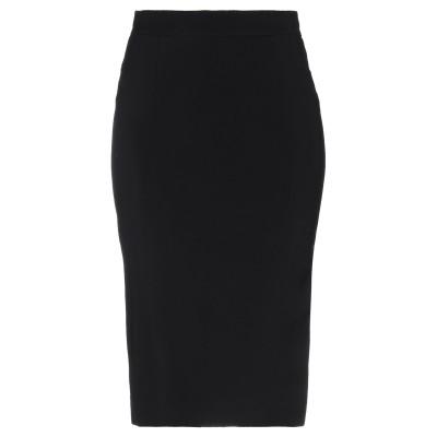 ジャストカヴァリ JUST CAVALLI ひざ丈スカート ブラック 38 レーヨン 97% / ポリウレタン 3% ひざ丈スカート