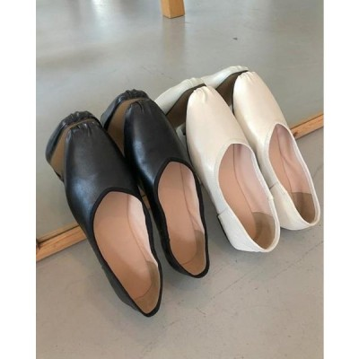 SOMEPLACE レディース フラット Shirred flat shoes
