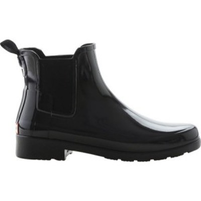ハンター Hunter レディース ブーツ チェルシーブーツ シューズ・靴 Original Refined Chelsea Gloss Boot Black