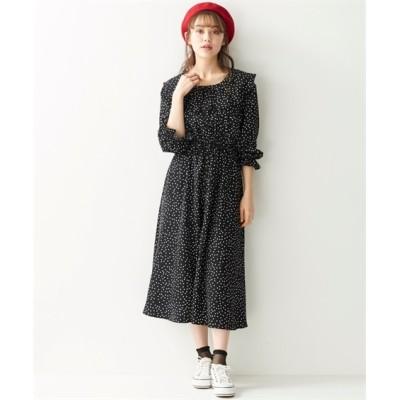 【大きいサイズ】 オリーブ。デ。オリーブ ドットプリントフロントボタンワンピース ワンピース, plus size dress